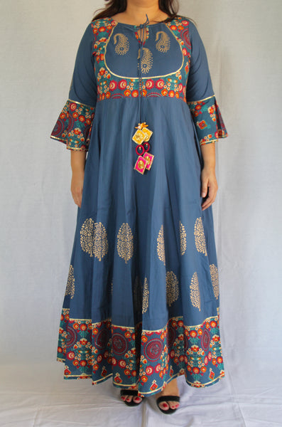 Teal Gypsy Long Dress
