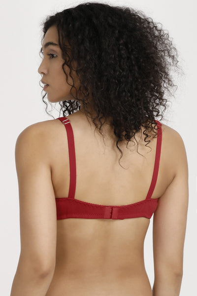 Zivame All Day Comfort Full Coverage Side Shaper Bra - Red
