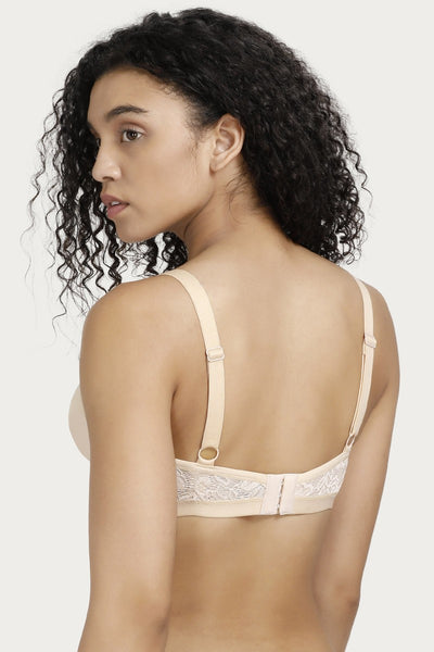 Zivame Double Layered Bra- Skin