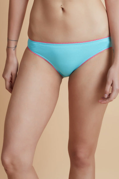 Zivame Cotton Bikini Panty (Pack Of 2)- Assorted