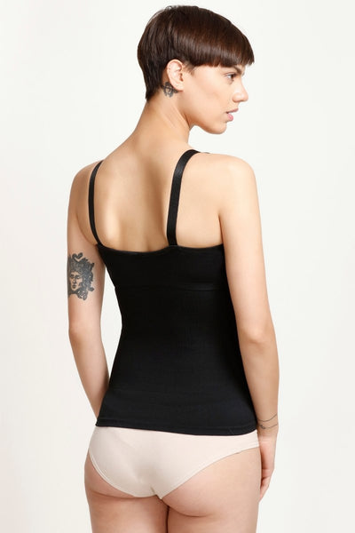 Zivame  Seamless Camisole with Removeable Cookie-Black