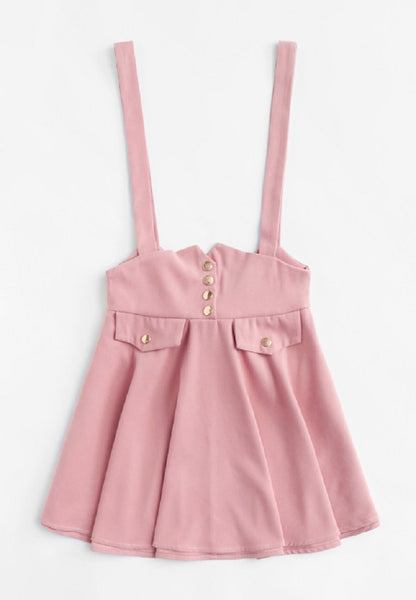 Bow Back Pinafore Skirt