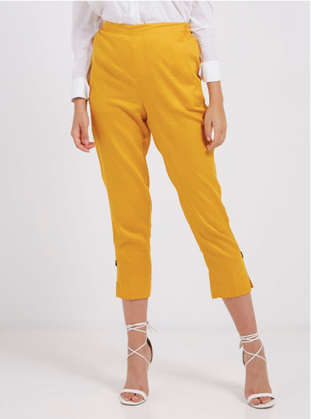 Sunshine Yellow Cotton Pants