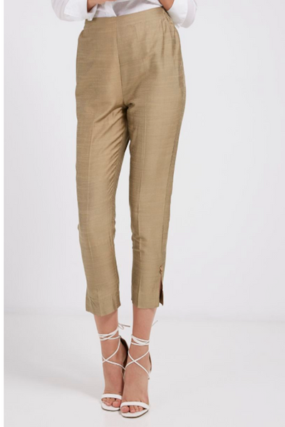 Gold Cigarette Pants