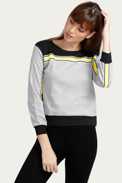 Zivame Pure Cotton Sweatshirt- Grey