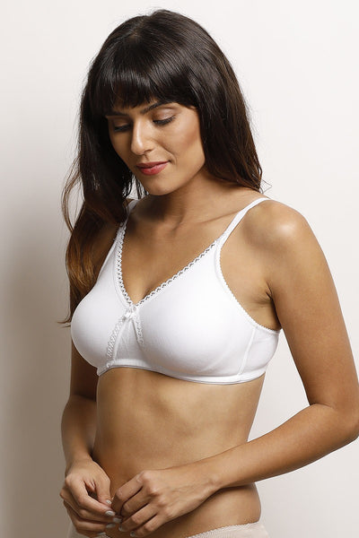 Zivame Double Layer Wirefree Bra- White