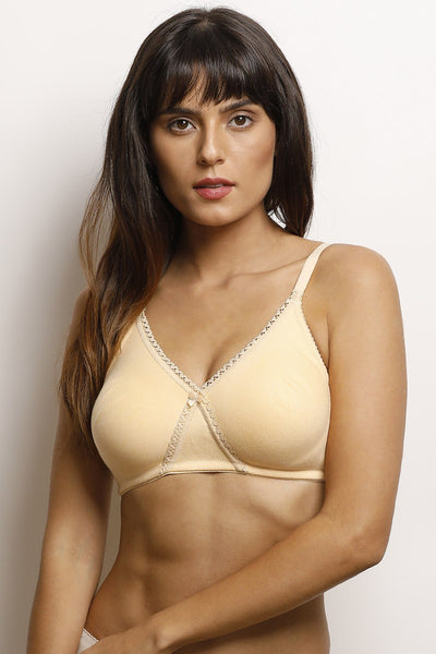 Rosaline Double Layer Wirefree Bra- Skin