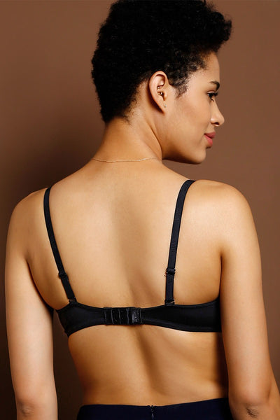Zivame At Work Super Soft Padded Strapless Bra- Black