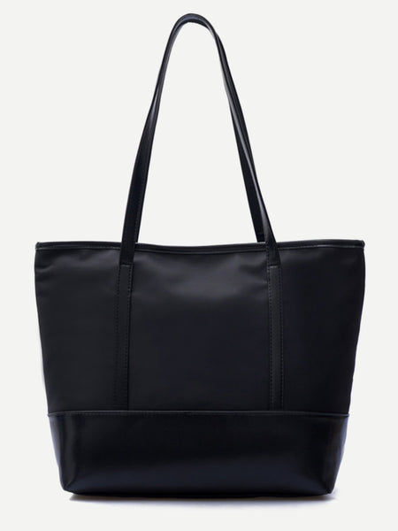 Trim Nylon Tote Bag
