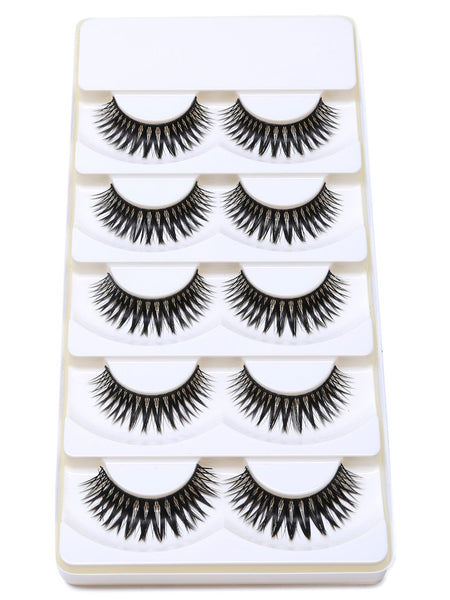 Black Natural Long Curly False Eyelashes