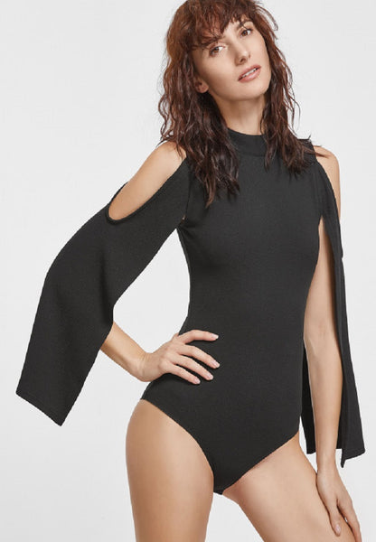 Zipper Back Bodysuit