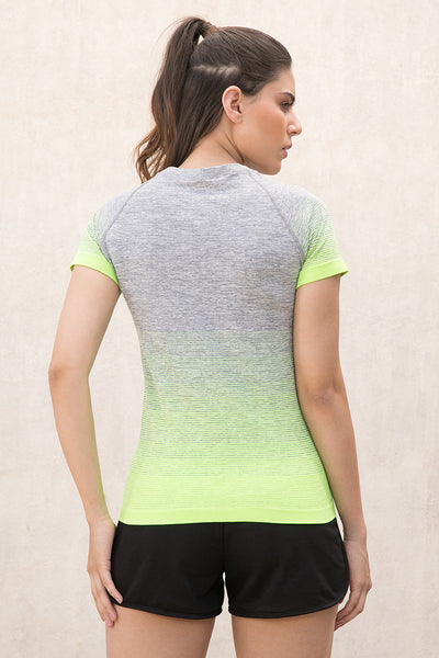 Zivame Training T-Shirt- Grey Melange