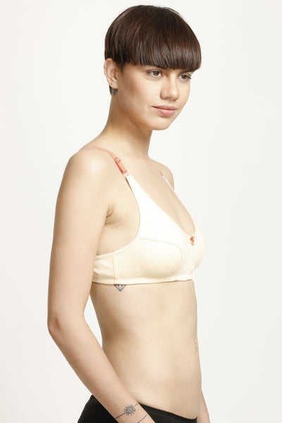Zivame All Day Comfort 3-4th Coverage Bra- Beige