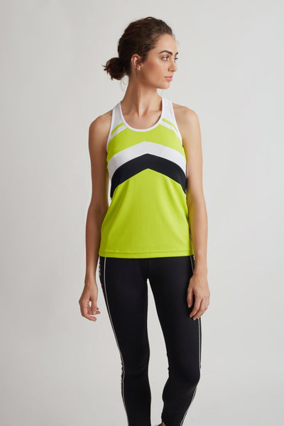 Zivame Easy Movement Ultra Light Weight Tank Top- Neon Green