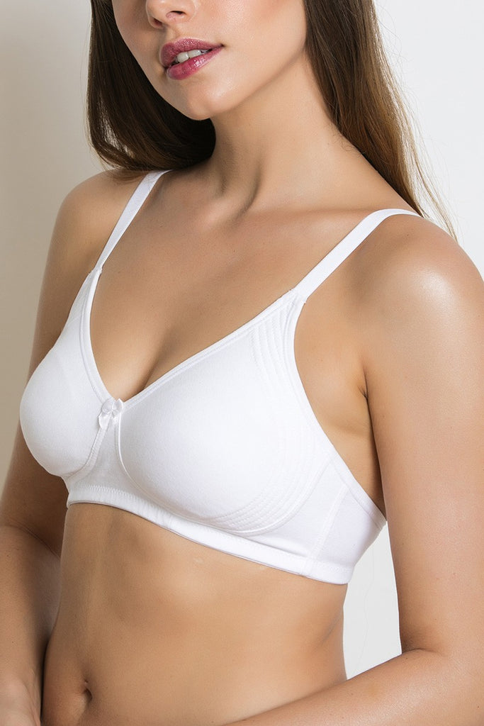 Zivame Side Shaping Smooth Fit  3-4th Coverage Bra- White