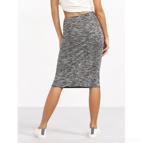 Self Tied Front Sheath Skirt