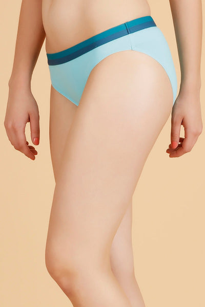 Zivame  Cotton Print n Solid Bikini Panty (Pack of 2)- Assorted