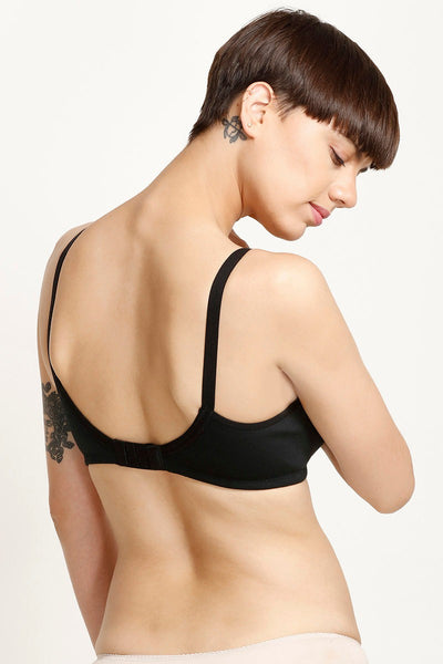 Rosaline All Day Comfort Full Coverage Contour Cup Bra - Black