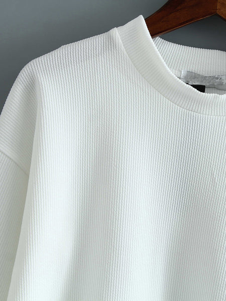 White Bell Sleeve Loose Top