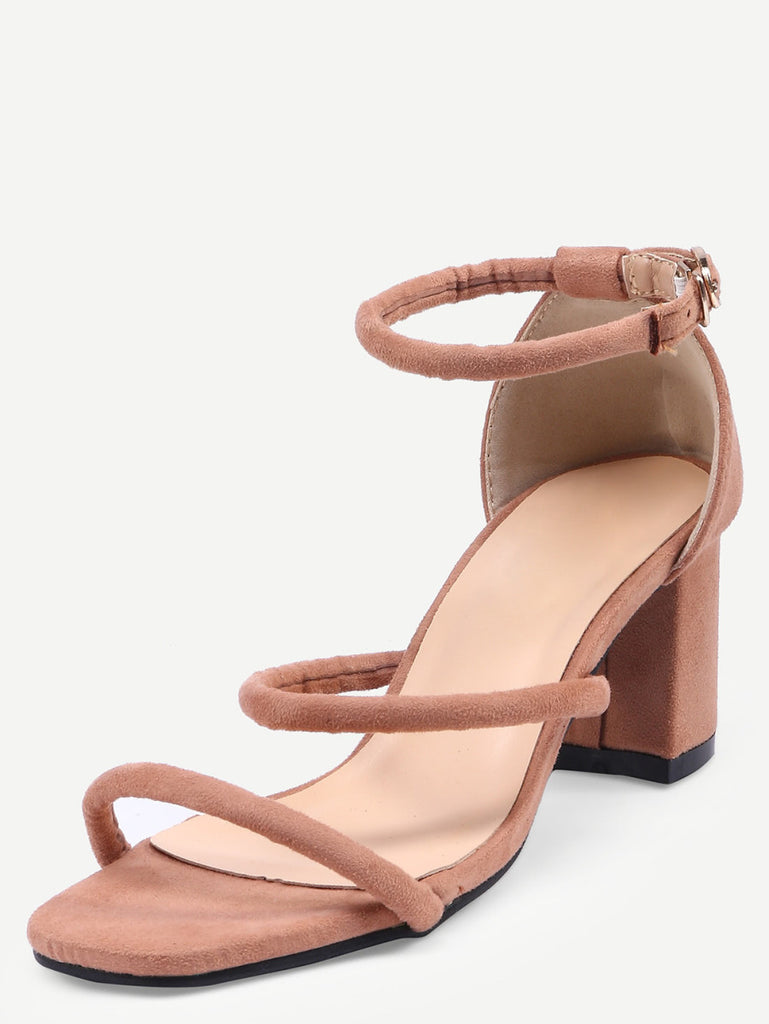d3b743521b8 Square Peep Toe Strappy Chunky Sandals – ZERE