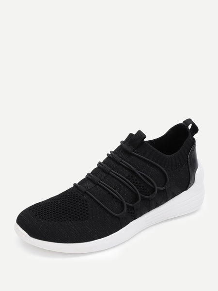 Knit Design Slip On Sneakers