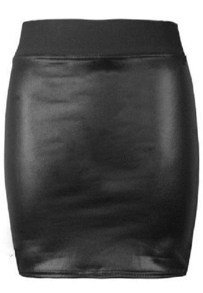 PU Leather Skirt
