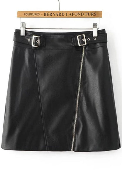 PU Skirt With Buckle