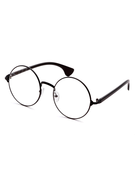 Matte Black Frame Clear Lens Glasses