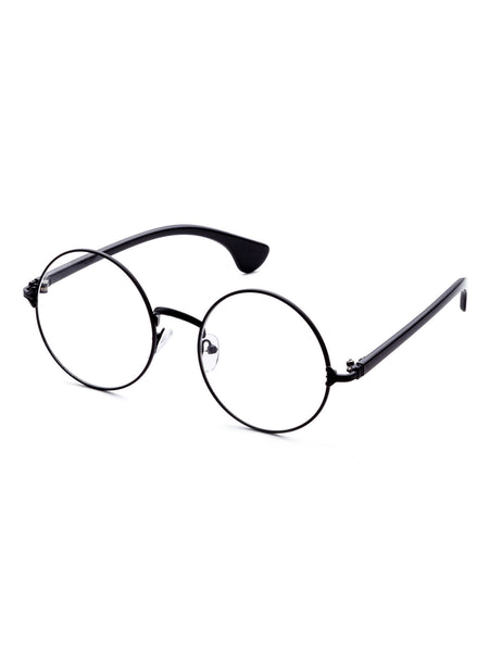 Black Frame Round Lens Glasses