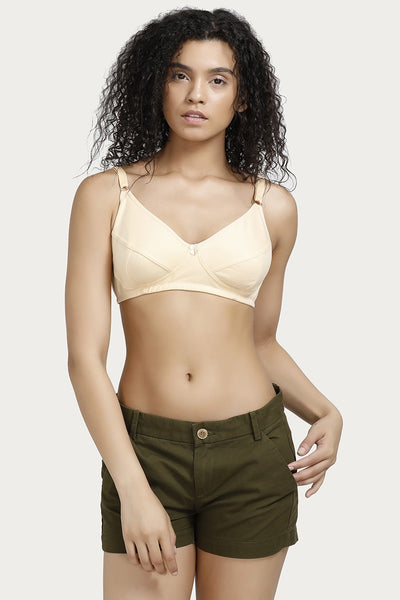 Rosaline All Day Comfort Full Coverage Bra- Skin