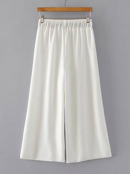 Zere Souq Contrast Strap Cami Top With Wide Leg Pants