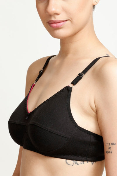 Zivame Padded  Wirefree Three-Fourth Coverage Bra- Black