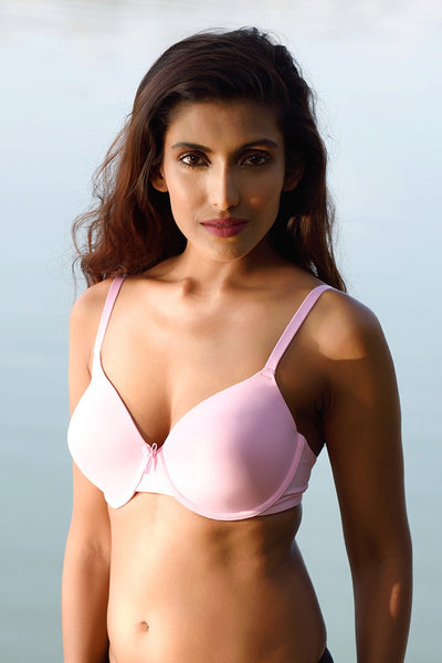 Zivame Smooth Fit High Coverage Wired T-Shirt Bra- Lilac