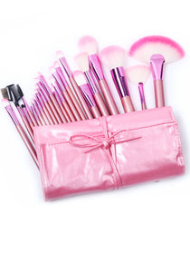 22pcs Pink Makeup Brush Set