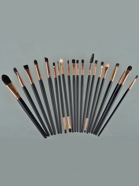 20pcs Professional Makeup Brushes Set Metal Make Up Brush Set-Black