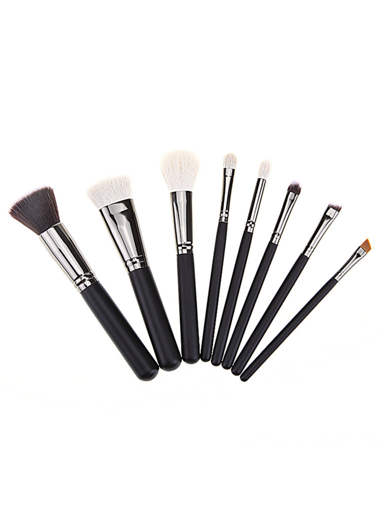 8PCS Black Professional Makeup Brush Set