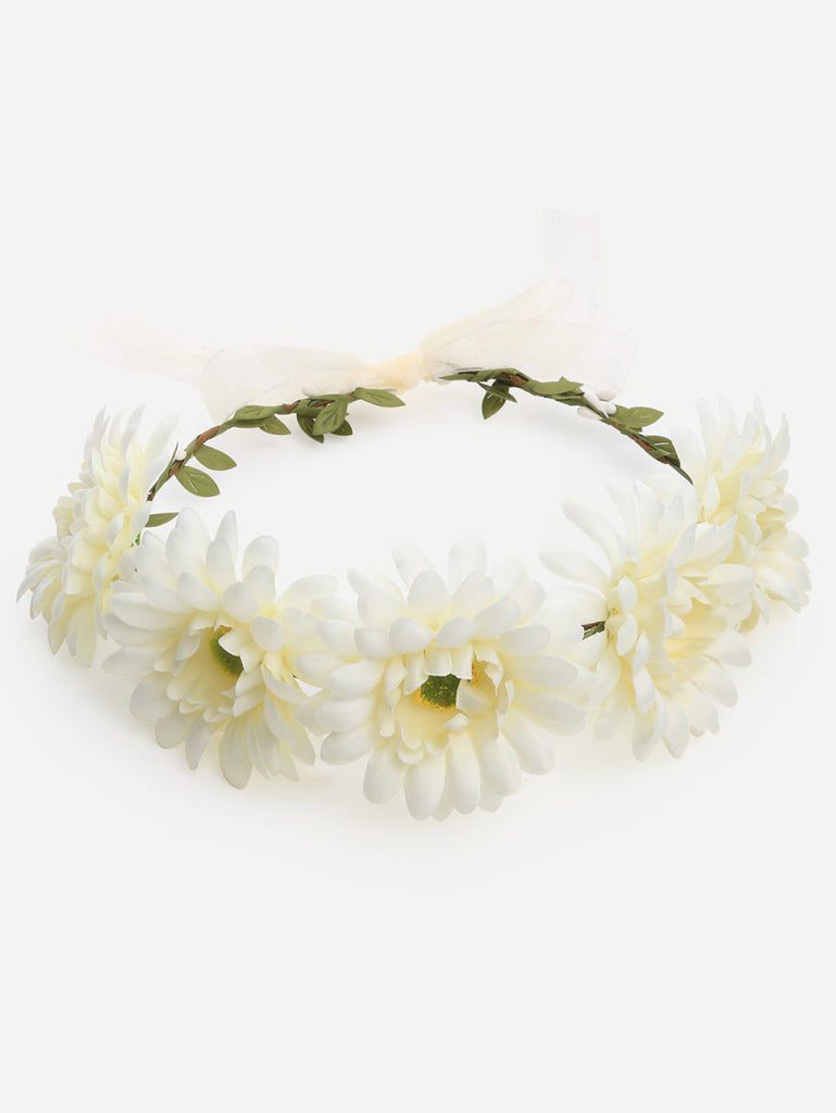 White Flower Crown Hairband