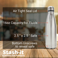 Diversion Water Bottle Can Safe by Stash-it with Smell Proof Bag