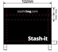 50 Smell Proof Recloseable Bags by Stash-it 3x4 inch