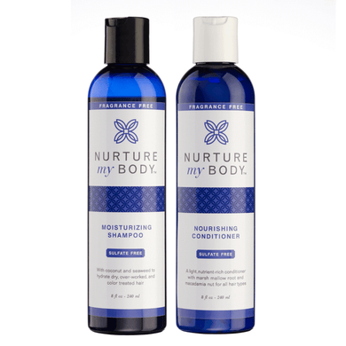 NURTURE MY BODY Moisturizing Shampoo & Conditioner Set (無香味) 染燙/乾燥髮質護理