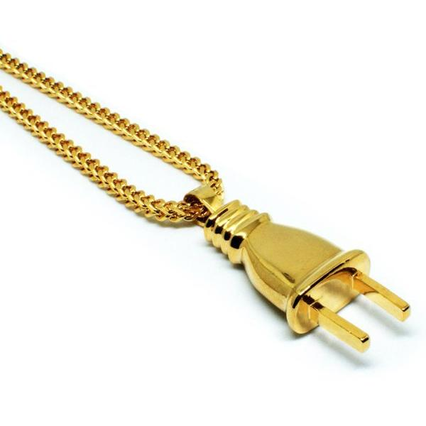 18k Gold Plug Pendant Necklace - The Jewelry Plug
