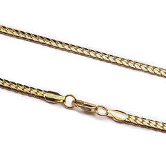 18k Yellow Gold Cuban Curb Link Necklace Chain - The Jewelry Plug