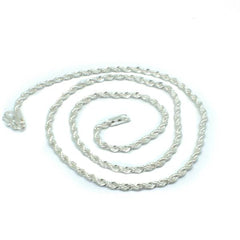 Sterling Silver Textured Rope Chain - The Jewelry Plug
