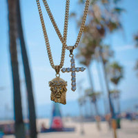 Customize A Set (Jesus Piece + Cross Necklace) - The Jewelry Plug