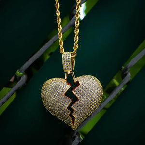 Broken Heart Necklace - The Jewelry Plug