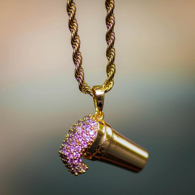 "Purple Drank ""Lean"" Necklace - The Jewelry Plug"