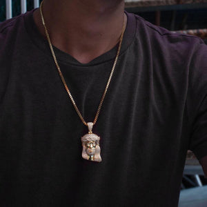 Jesus Piece Pendant Necklace - The Jewelry Plug