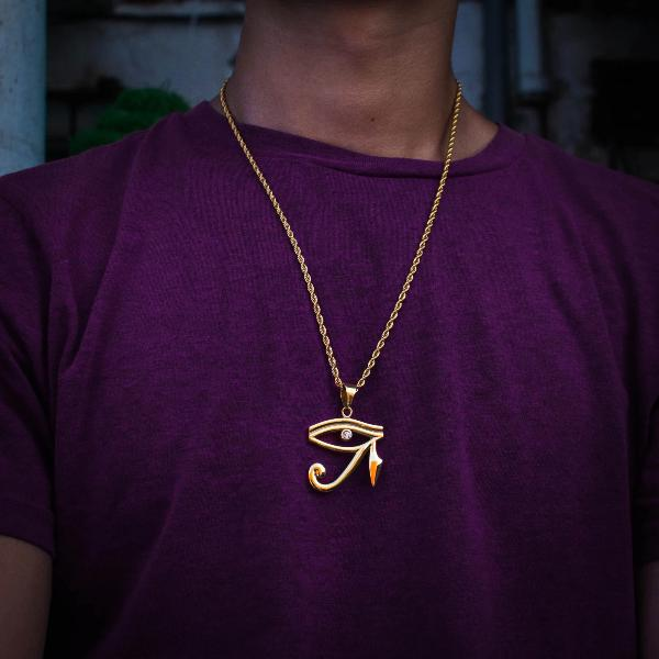 Gold Eye of Horus Necklace - The Jewelry Plug