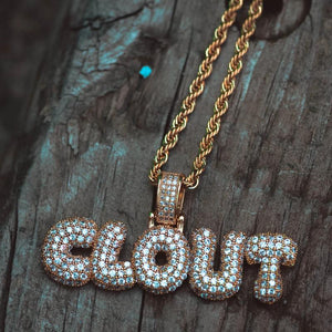 Diamond Iced Out Clout Gang Necklace - The Jewelry Plug