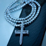 Diamond Nail Cross of Suffering Necklace in White Gold - The Jewelry Plug